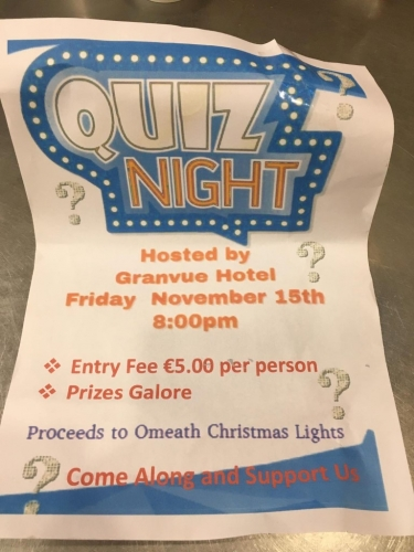 QUIZ NIGHT in The Granvue (Proceeds to Omeath Christmas Lights)