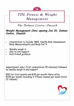TDL Fitness and Weight Management, The Dolmen Centre Omeath