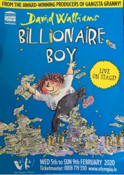 Billionaire Boy - The Olympia Theatre 6th Feb 2020